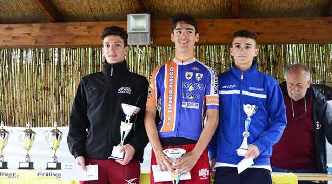 pedale ossolano il podio della Coppa Giacosa 2 Bozzola1Frontera 3Giubergia